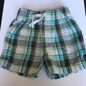 Jumping beans plaid shorts